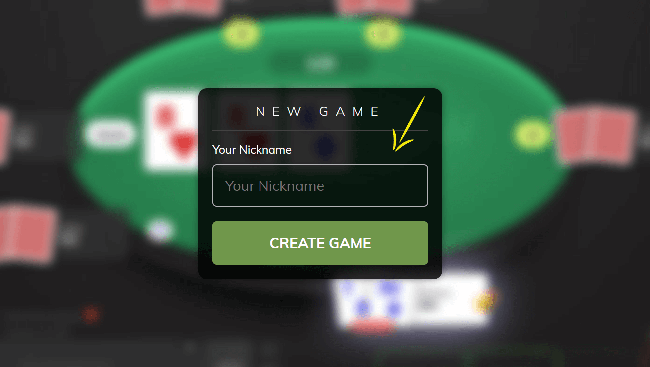 Filling the new Poker Now game form